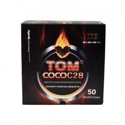 Tom Coco Gold C28 karton verpakking. Waterpijp kooltjes